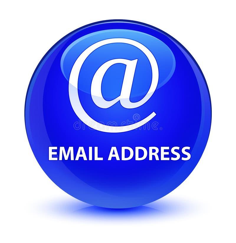 Email address glassy blue round button. Email address isolated on glassy blue round button abstract illustration royalty free illustration