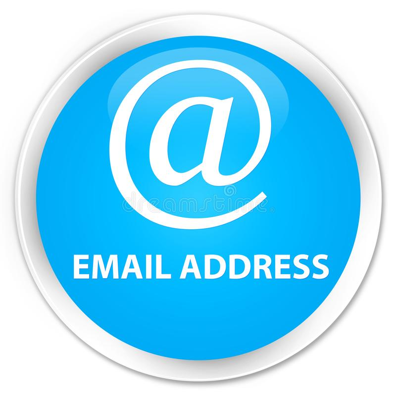 Email address premium cyan blue round button. Email address isolated on premium cyan blue round button abstract illustration royalty free illustration
