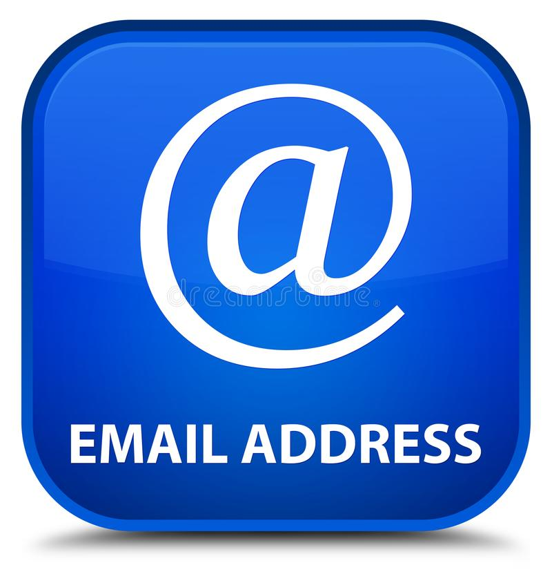 Email address special blue square button. Email address isolated on special blue square button abstract illustration vector illustration