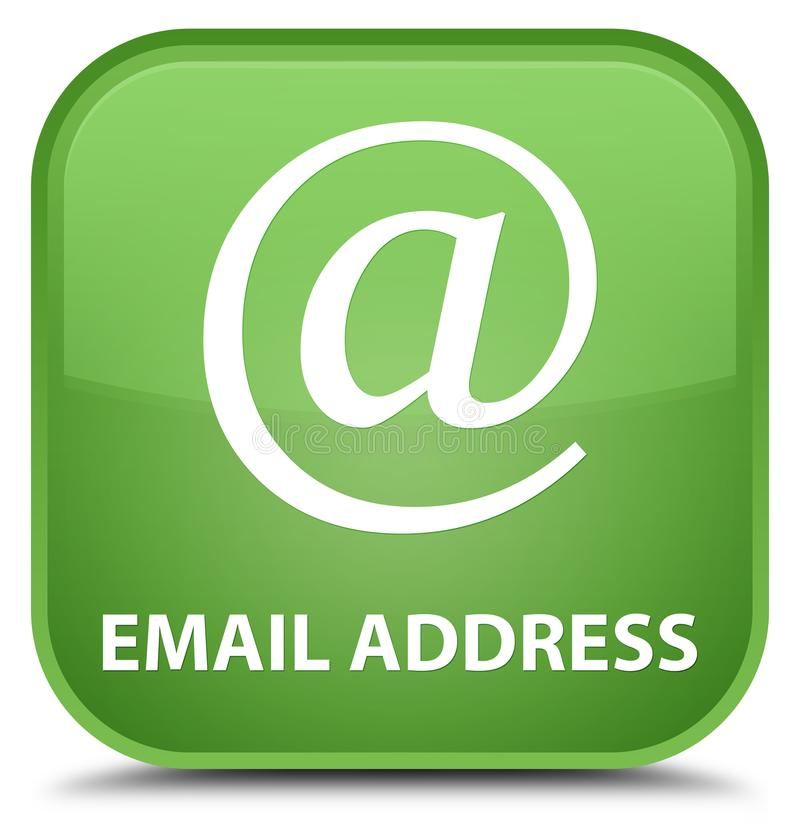 Email address special soft green square button. Email address isolated on special soft green square button abstract illustration stock illustration
