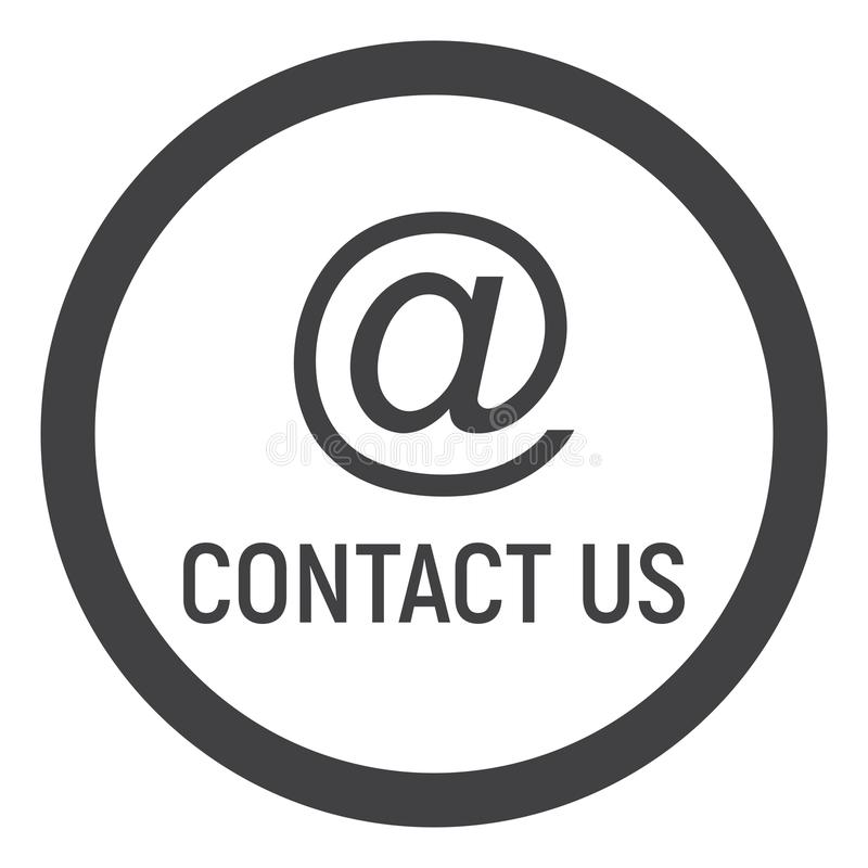 Email address line icon, contact us and website vector illustration