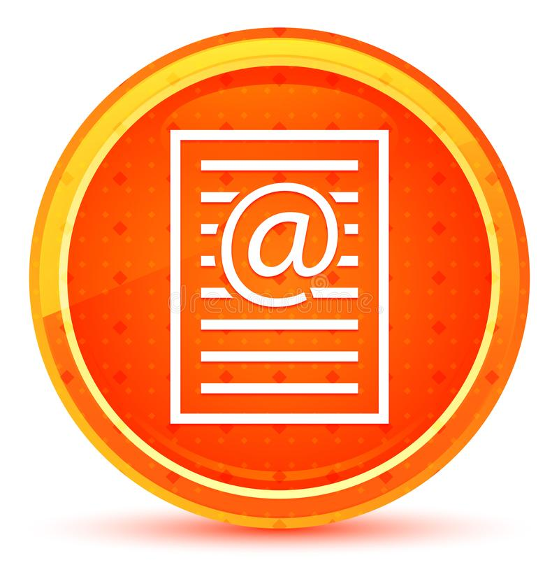 Email address page icon natural orange round button stock illustration
