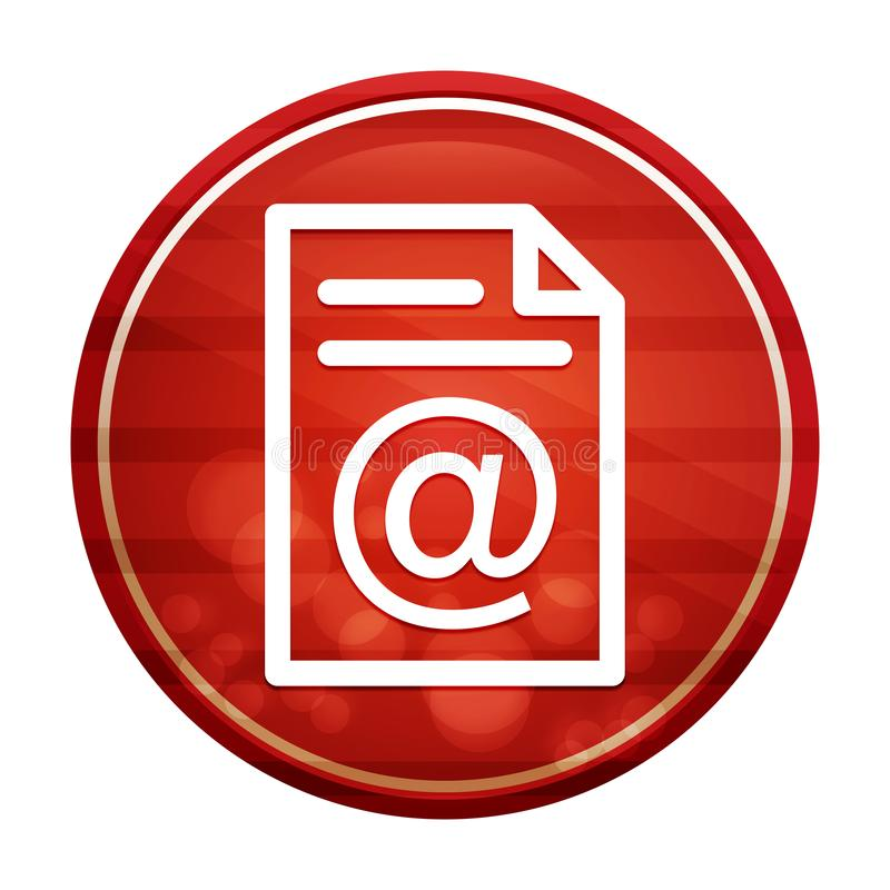 Email address page icon realistic diagonal motion red round button illustration vector illustration