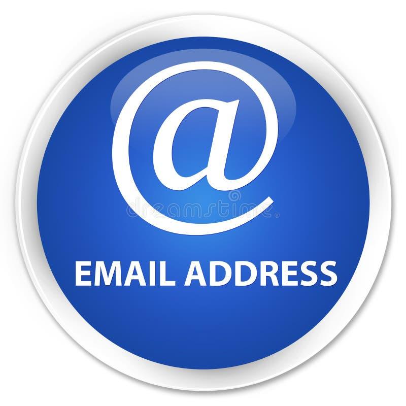 Email address premium blue round button. Email address isolated on premium blue round button abstract illustration royalty free illustration