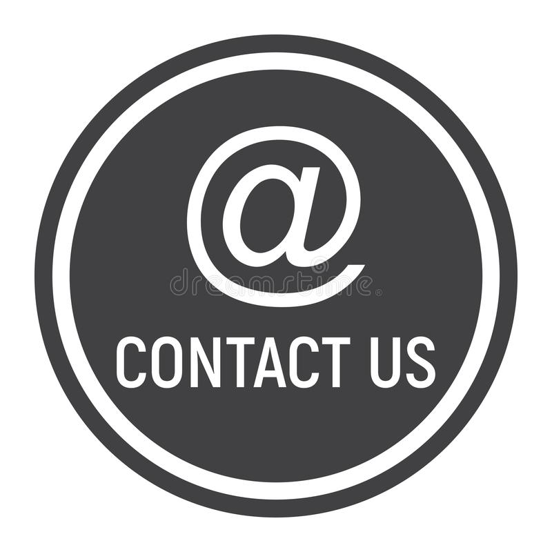 Email address solid icon, contact us and website royalty free illustration