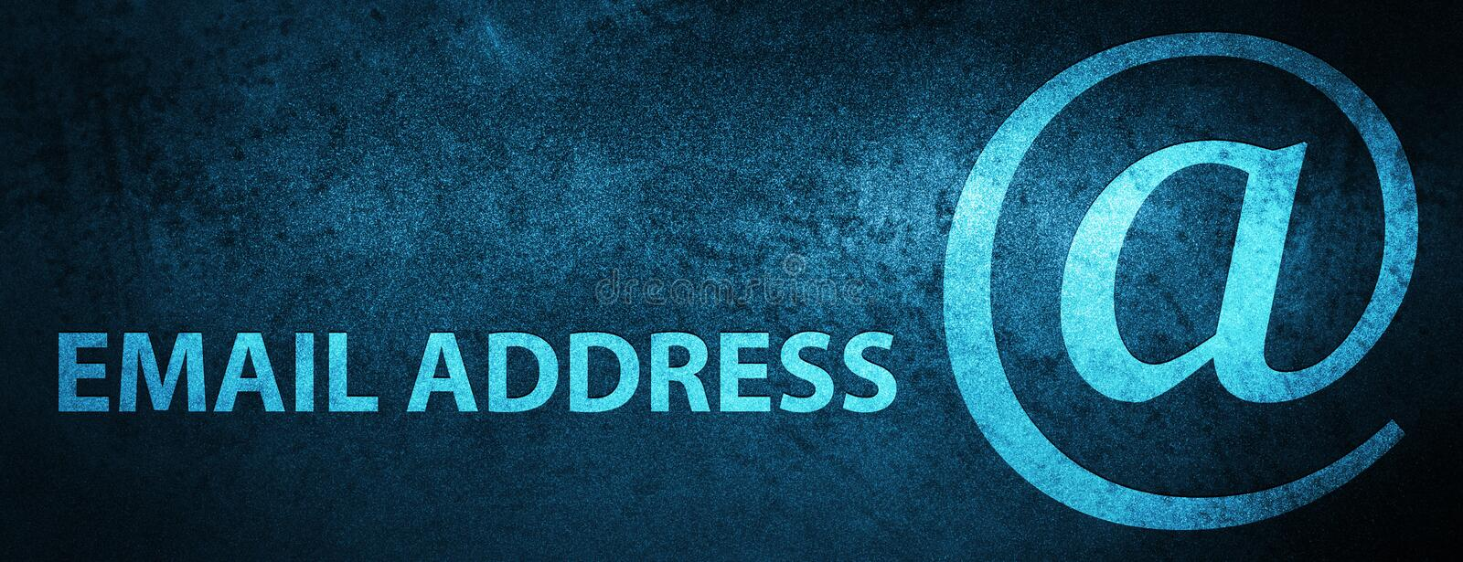 Email address special blue banner background royalty free illustration