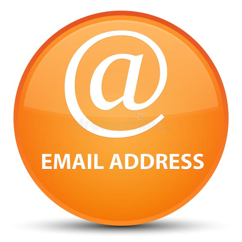 Email address special orange round button. Email address isolated on special orange round button abstract illustration stock illustration