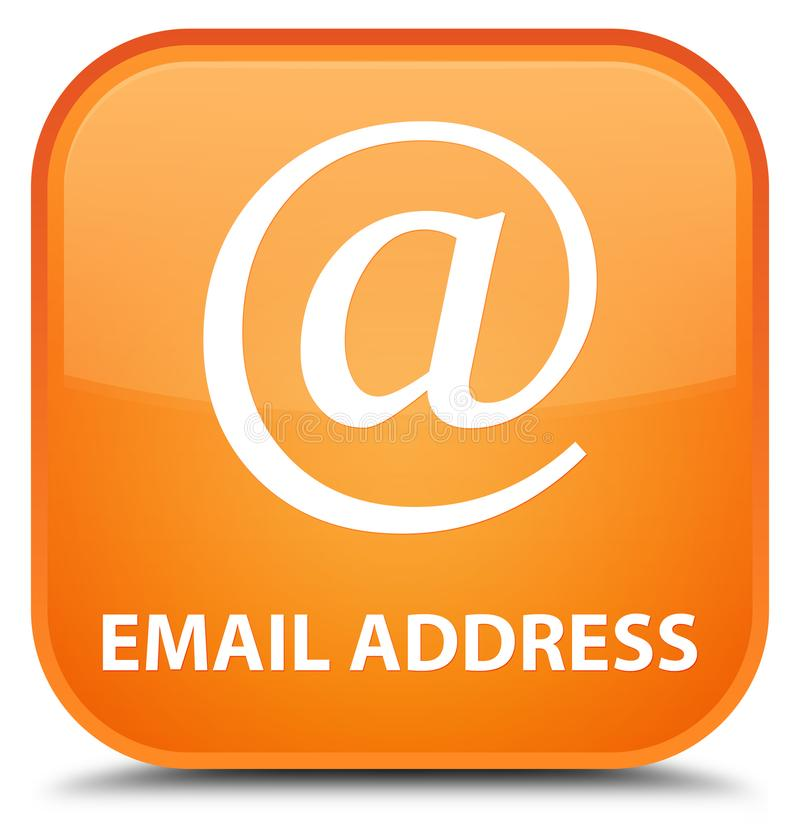 Email address special orange square button. Email address isolated on special orange square button abstract illustration stock illustration