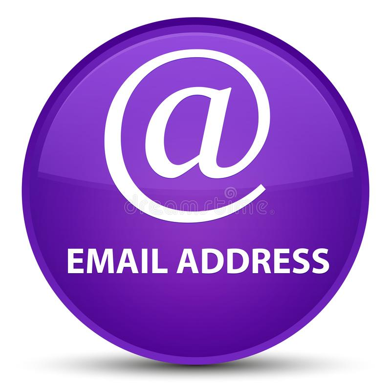 Email address special purple round button. Email address isolated on special purple round button abstract illustration vector illustration