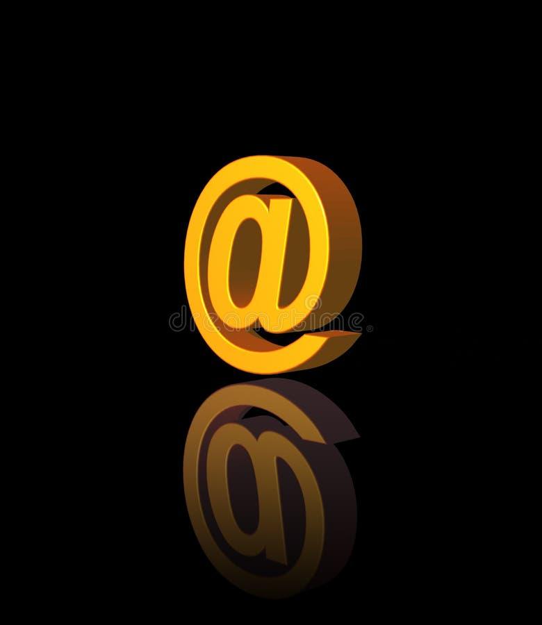 Email alias royalty free illustration