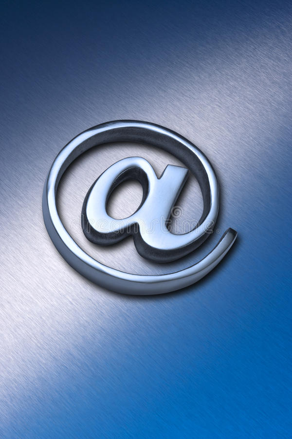 Email alias en el fondo fotografía de archivo