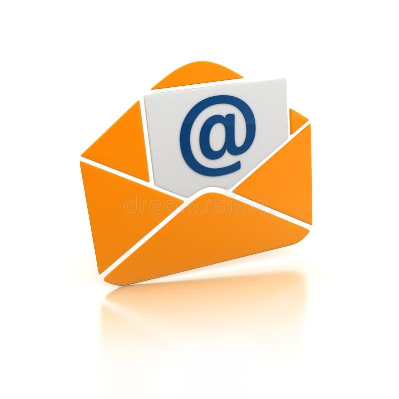 Email arancio illustrazione vettoriale