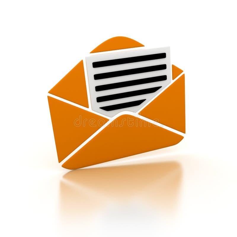 Email arancione illustrazione di stock