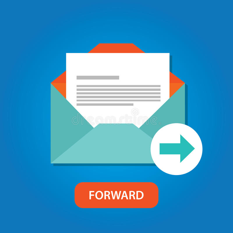 Email automatic auto forward response icon button royalty free illustration