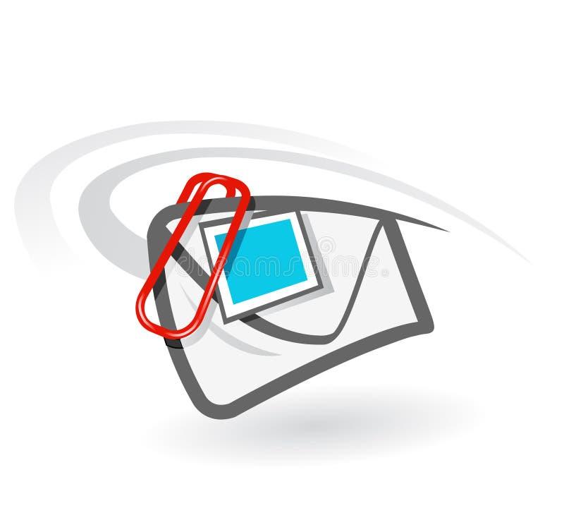 EMail-Befestigung lizenzfreie abbildung