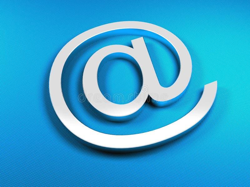 EMail-Blauzeichen lizenzfreie abbildung