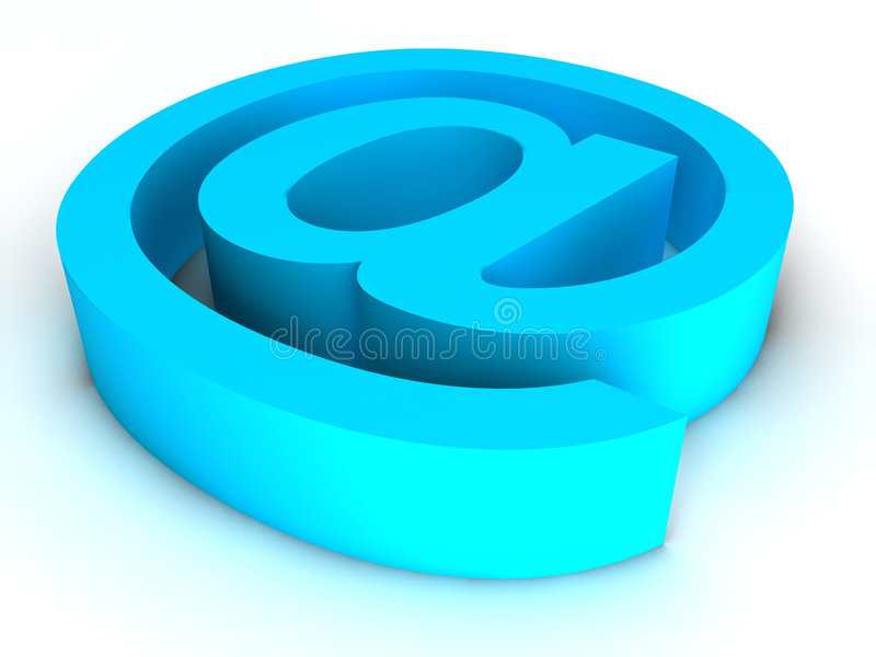 Email blu illustrazione vettoriale