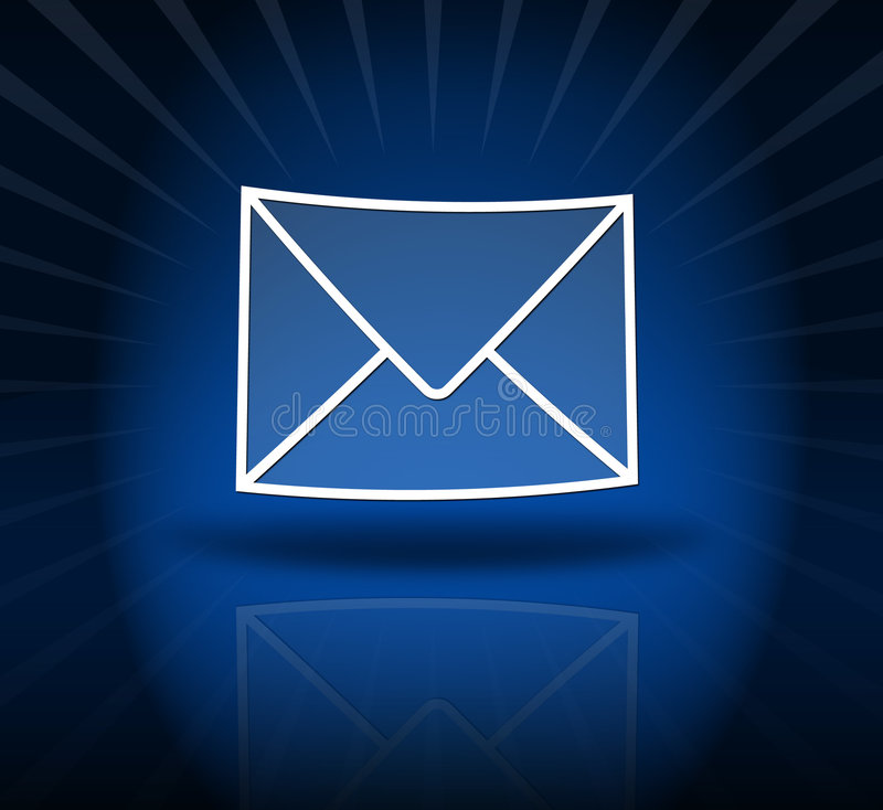EMail blue stock photos