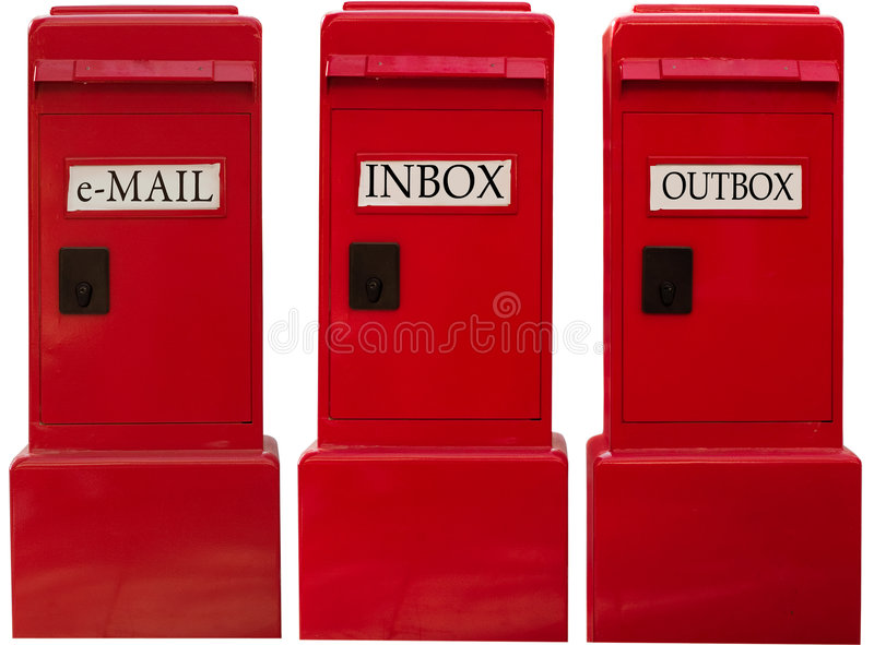 EMAIL BOXES stock photography
