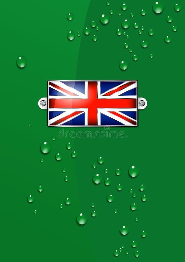 Email Britse Unie Jack Flag - Achtergrond stock illustratie