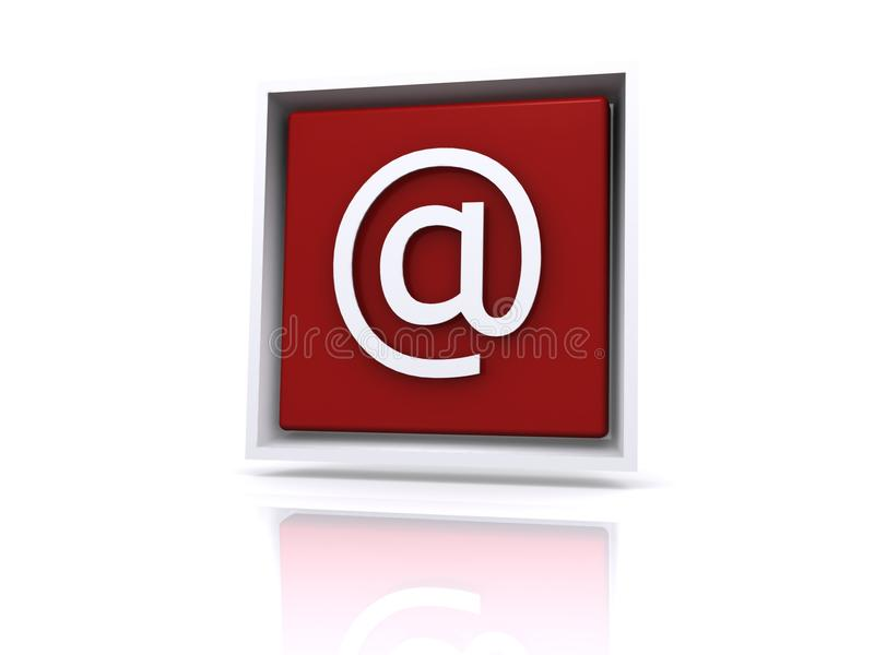 Download Email @ Button In Red Royalty Free Stock Photo - Image: 13525515