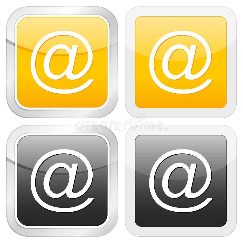 Email carré de graphisme illustration stock