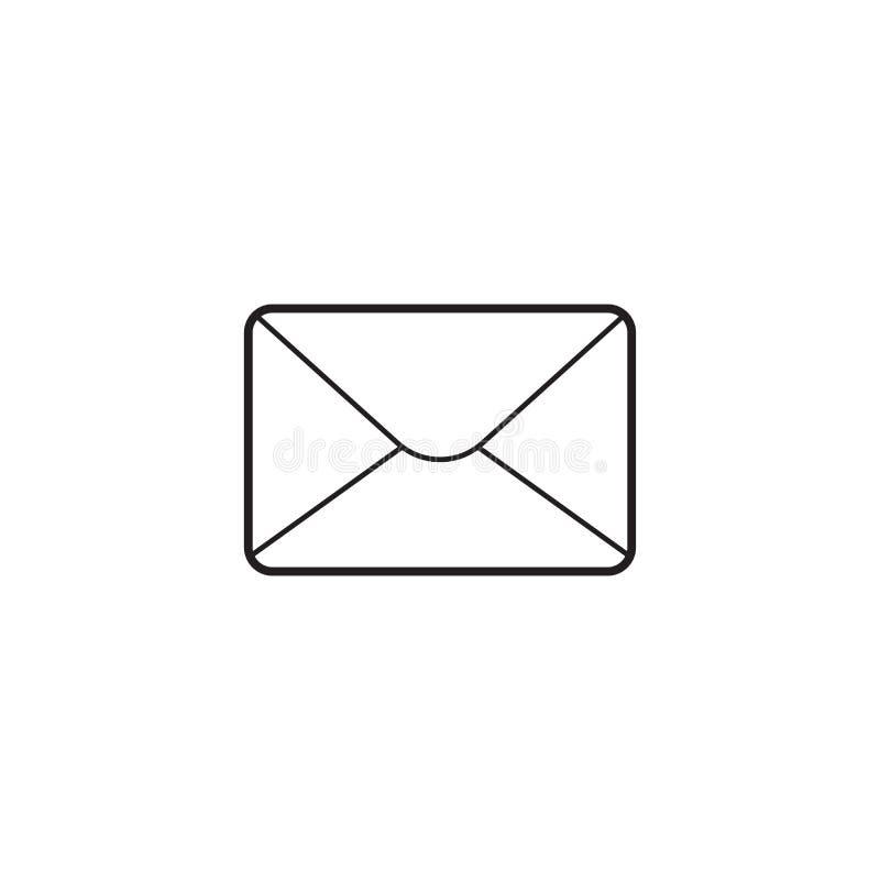 Email cienka kreskowa ikona, listowy konturu wektoru logo royalty ilustracja