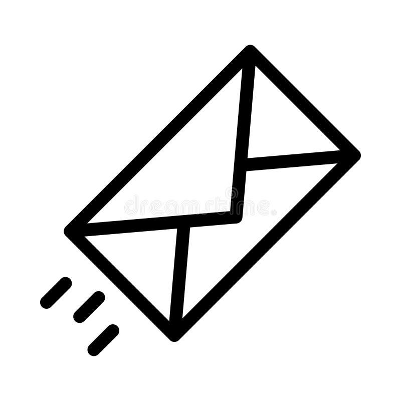 Email cienka kreskowa wektorowa ikona royalty ilustracja