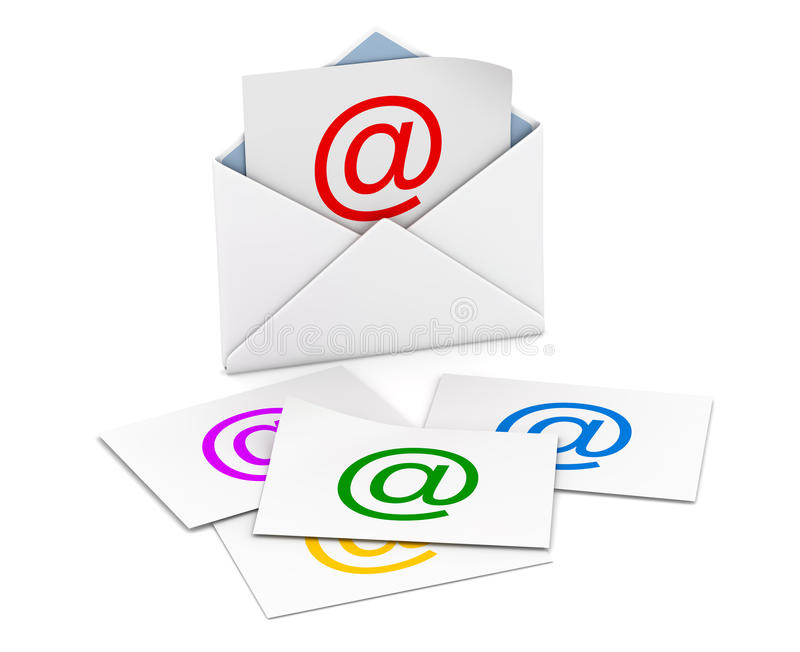 Email concept stock illustration