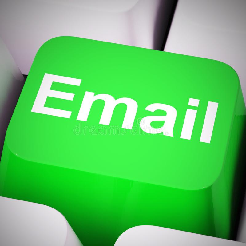Email concept icons means electronic mail correspondence using internet - 3d illustration. Email concept icons means electronic mail correspondence using vector illustration