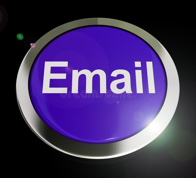 Email concept icons means electronic mail correspondence using internet - 3d illustration. Email concept icons means electronic mail correspondence using stock illustration