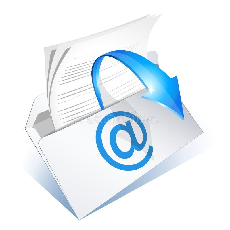 email czytający ilustracja wektor