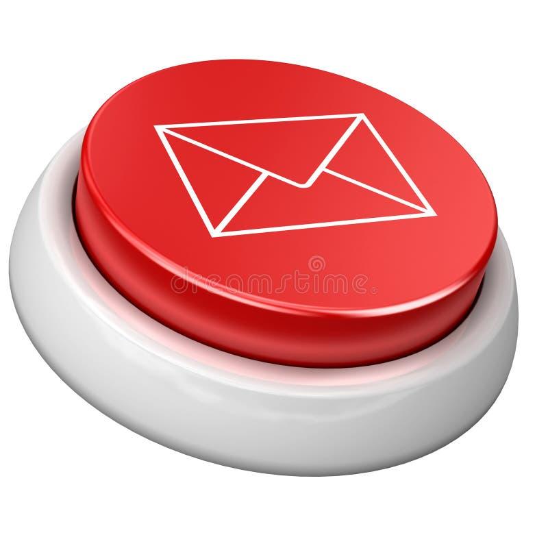 Email da tecla ilustração stock