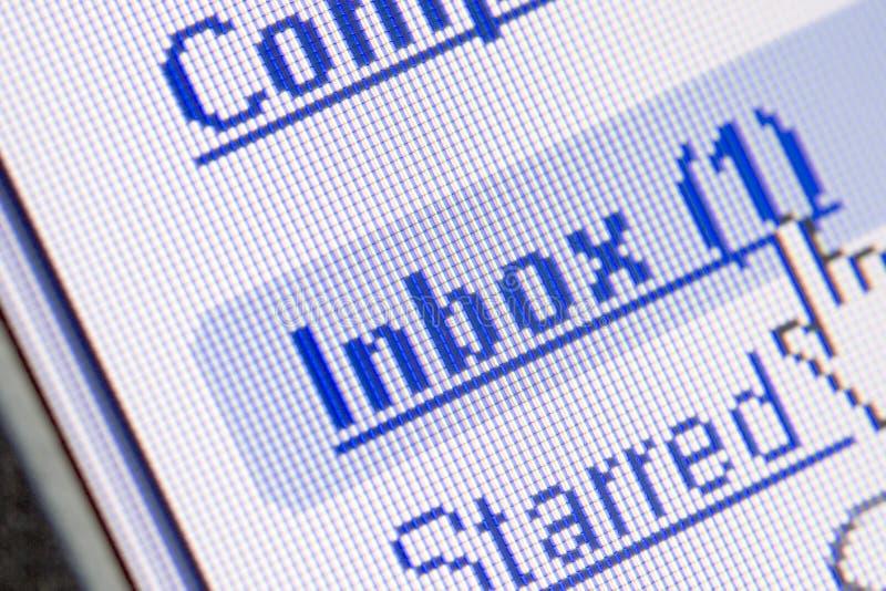 Email dans Inbox photo libre de droits