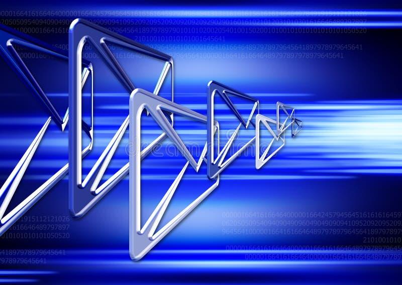 Email dans le cyberespace 4 illustration de vecteur
