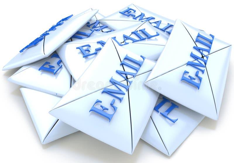Email de lettres illustration stock