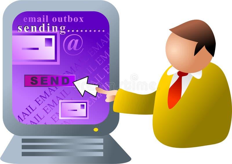 Email del calcolatore illustrazione di stock