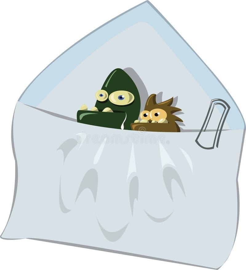 Email del Spam y dos virus asociados libre illustration