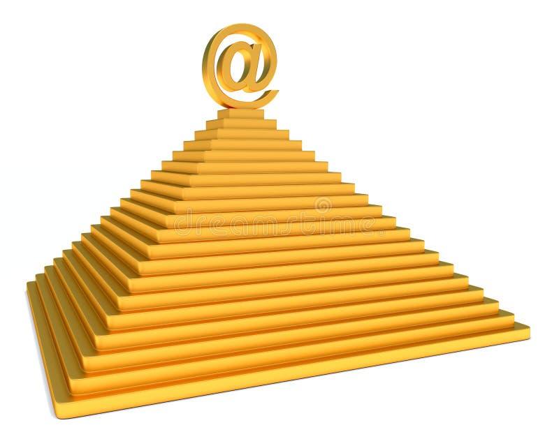 Email dell'oro e della piramide illustrazione vettoriale