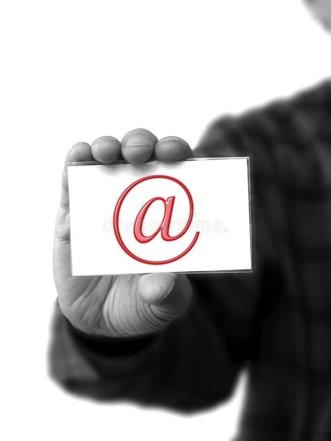 EMail in der Hand lizenzfreie stockbilder