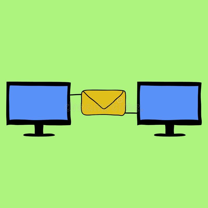 Email di stile di scarabocchio royalty illustrazione gratis