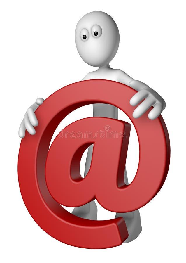 Email dit illustration stock