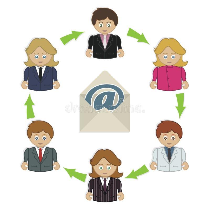 Email do negócio ilustração royalty free