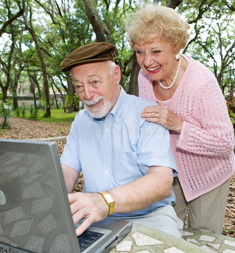 Email dos Grandkids fotografia de stock