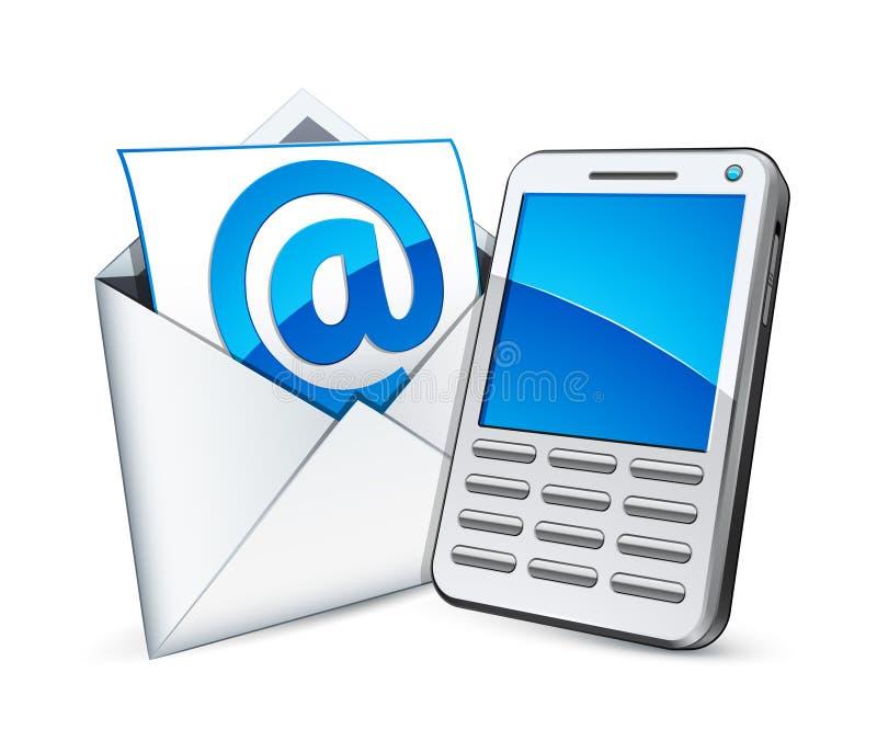 Email e telefone ilustração do vetor