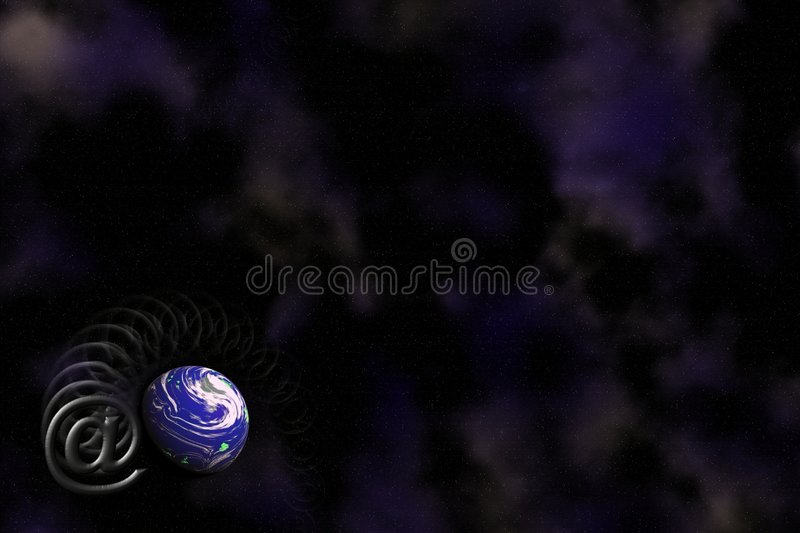 Email And Earth Logo Background. Stock Photography