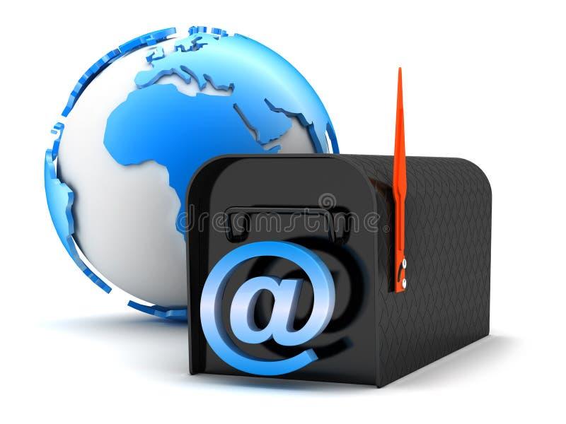 Email - ejemplo del concepto stock de ilustración