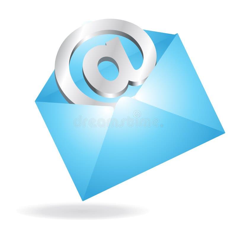 Email en una carta stock de ilustración