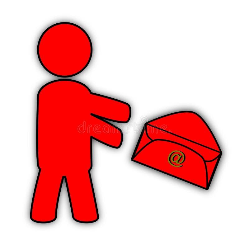 Email entrante stock de ilustración