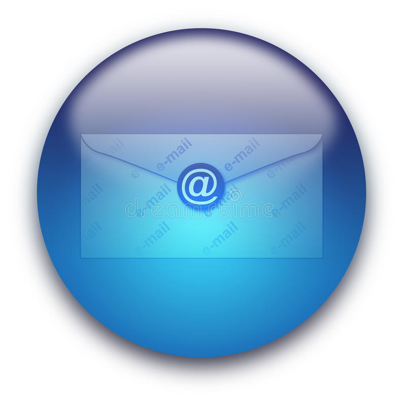 Email envelope button royalty free illustration